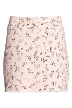 Denim skirt - Powder pink/Floral - Ladies | H&M CN 3
