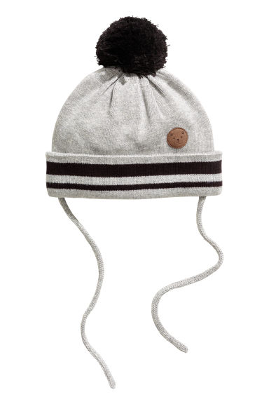 Fine-knit hat - Light grey - Kids | H&M