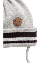 Fine-knit Hat - Light gray - Kids | H&M CA 2