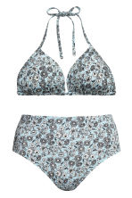 H&M+ Bikini bottoms High waist - Light blue/Floral - Ladies | H&M IE 3