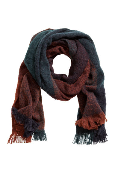 Block-print scarf - Green/Brown - Ladies | H&M IE