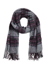 Woven scarf - Grey/Purple - Ladies | H&M IE 2