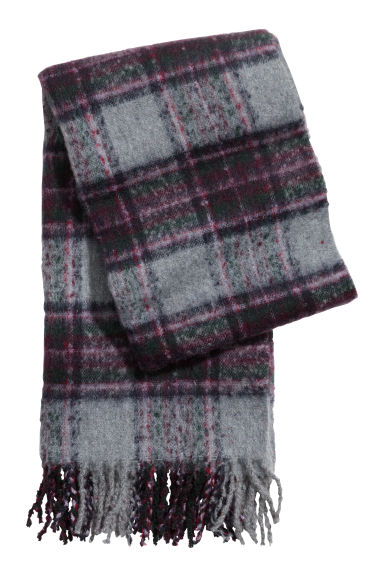 Woven scarf - Grey/Purple - Ladies | H&M GB