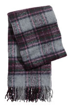 Woven scarf - Grey/Purple - Ladies | H&M IE 1