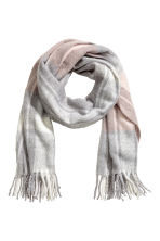 Woven scarf - Powder pink/Grey checked - Ladies | H&M GB 1