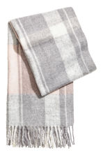 Woven scarf - Powder pink/Grey checked - Ladies | H&M GB 2