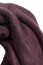 Knitted tube scarf - Plum - Ladies | H&M CN 2