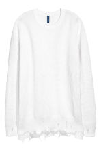 Textured-knit jumper - White - Men | H&M CN 2