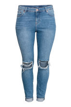 H&M+ Slim Regular Jeans - Denimblauw/Trashed - DAMES | H&M NL 2