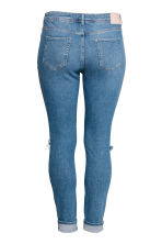 H&M+ Slim Regular Jeans - Denimblauw/Trashed - DAMES | H&M NL 3