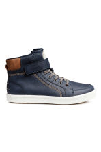 Hi-top trainers - Dark blue - Kids | H&M 1