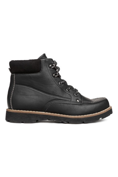 Fleece-lined boots - Black - Kids | H&M 1