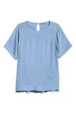 H&M+ Crêpe top - Blue - Ladies | H&M 2