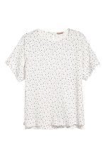 H&M+ 縐紗上衣 - White/Stars - Ladies | H&M 2