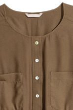 H&M+ Crêpe blouse - Khaki green - Ladies | H&M CN 3