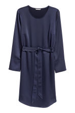 H&M+ Crêpe dress - Dark blue - Ladies | H&M CN 2
