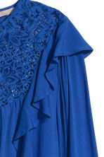 H&M+ Flounced blouse - Cornflower blue - Ladies | H&M 3