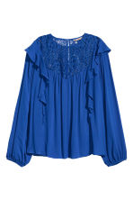 H&M+ Flounced blouse - Cornflower blue - Ladies | H&M 2