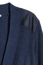 H&M+ Ribbed cardigan - Dark blue - Ladies | H&M 3