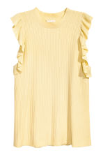 H&M+ Ribbed top - Light yellow - Ladies | H&M 2