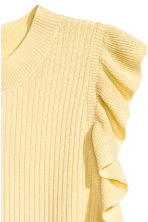 H&M+ Ribbed top - Light yellow - Ladies | H&M 3