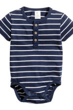 2-pack short-sleeved bodysuits - Dark blue - Kids | H&M 3