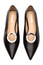 Leather ballet pumps - Black - Ladies | H&M CN 3