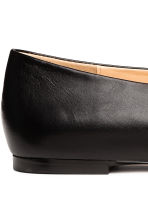 Leather ballet pumps - Black - Ladies | H&M CN 5