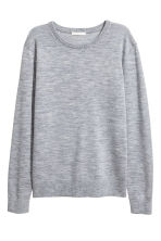 Knitted wool jumper - Grey marl - Ladies | H&M CN 2