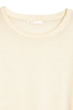 Knitted wool jumper - Natural white - Ladies | H&M 3