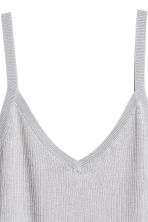 Fine-knit strappy top - Light grey - Ladies | H&M GB 3