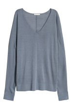 Fine-knit jumper - Blue-grey - Ladies | H&M CA 2