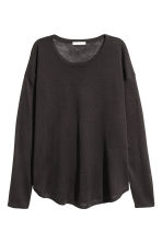 Fine-knit jumper - Dark grey - Ladies | H&M CN 2