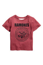 Printed T-shirt - Dark red/Ramones -  | H&M 2