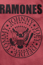 圖案T恤 - Dark red/Ramones - Kids | H&M 3