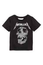 圖案T恤 - Black/Metallica - Kids | H&M 2