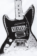T-shirt met print - Wit/Nirvana -  | H&M BE 3
