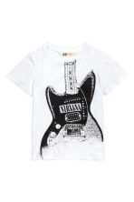 T-shirt met print - Wit/Nirvana -  | H&M BE 2
