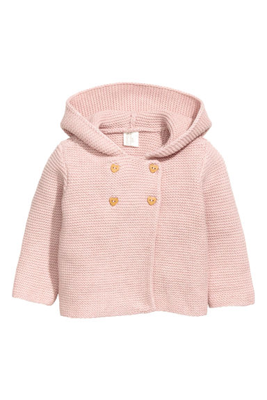 Textured-knit cardigan - Pink - Kids | H&M 1