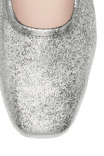 Ballet pumps with a heel - Silver - Ladies | H&M CA 3