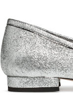 Ballet pumps with a heel - Silver - Ladies | H&M CA 4