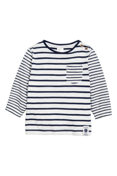 Long-sleeved top - Dark blue - Kids | H&M CN 1