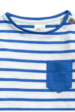 長袖上衣 - White/Blue striped -  | H&M 2