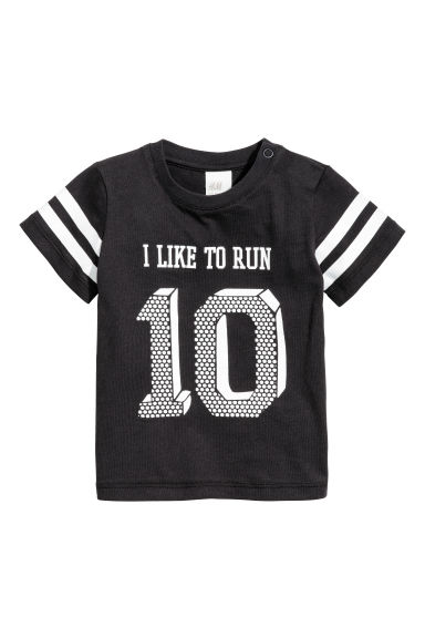 T-shirt with mesh - Black - Kids | H&M 1