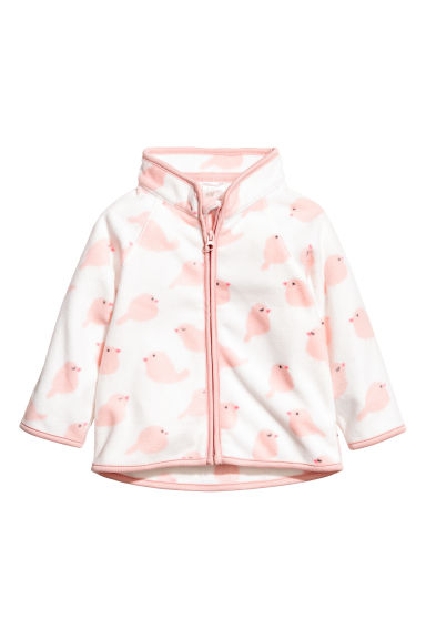 Fleece jacket - White/Birds - Kids | H&M 1
