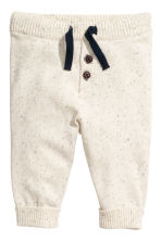 Knitted jumper and trousers - Natural white/Blue striped -  | H&M 2