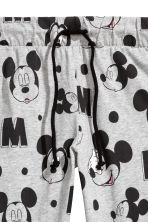 Patterned joggers - Light grey/Mickey Mouse - Ladies | H&M 3