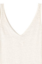 Linen jersey vest top - Natural white - Ladies | H&M 3