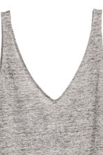 Linen jersey vest top - Grey marl - Ladies | H&M 3