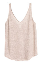 Linen jersey vest top - Light mole -  | H&M 2